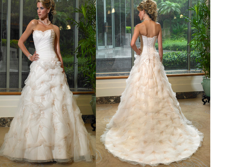 Different styles of wedding bridal dresses images frompo for Unique wedding dress styles
