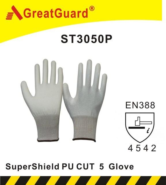 Supershield PU Palm Cut 5 Glove (ST3050P)