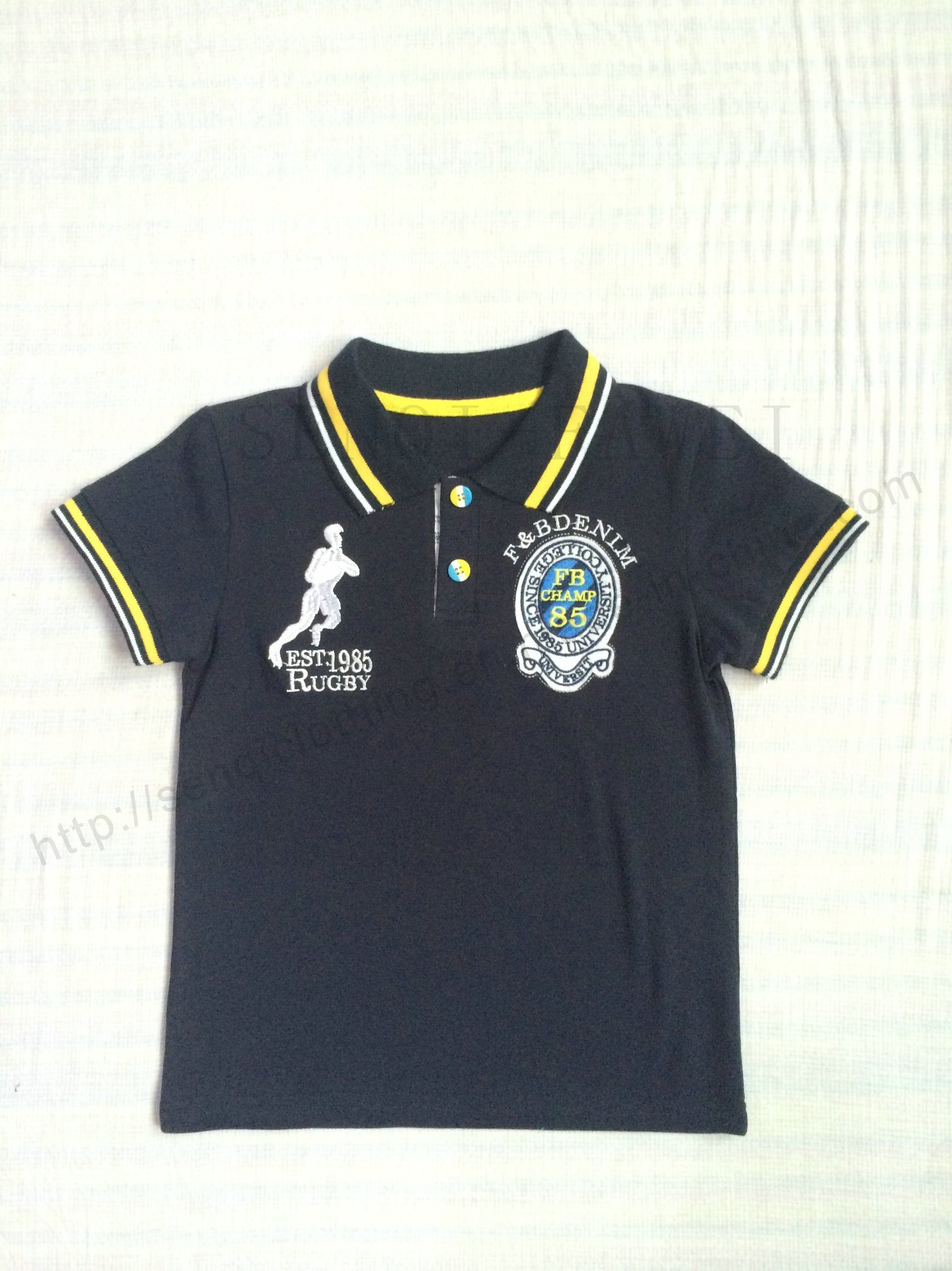 Boy Polo Shirt in Children Clothing with Short Sleeve Sq-6265