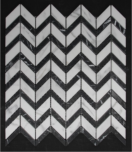 Hexagon/Basketweave/Herringbone/French Pattern Floor/Wall White Marble Mosaics for Bathroom Flooring Tiles