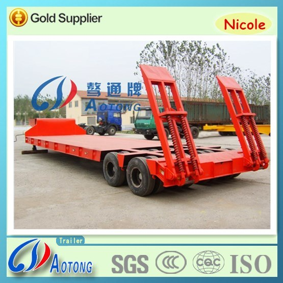 2-4 Axles 50-80t Low Flatbed Semi Truck Trailer (LAT9322TDP)