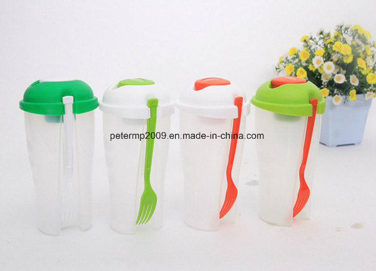 Plastic Salad to Go Serving Cup with Fork