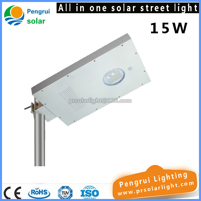 15W Solar Street Light with LED Lighting