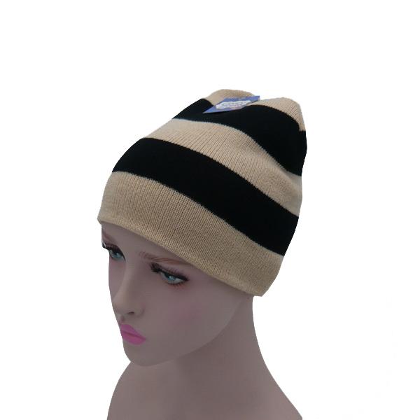 Stripes Qualitative Feeling Knnited Hat