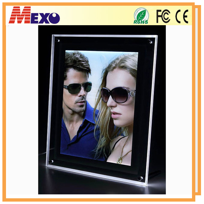Tabletop Crystal LED Photo Frame with Black Border