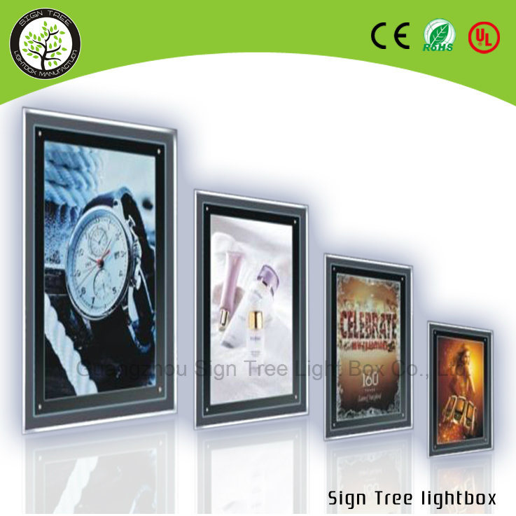 High Quality Ultrathin Slim Crystal Aluminum Snap Frame DIY LED Light Box
