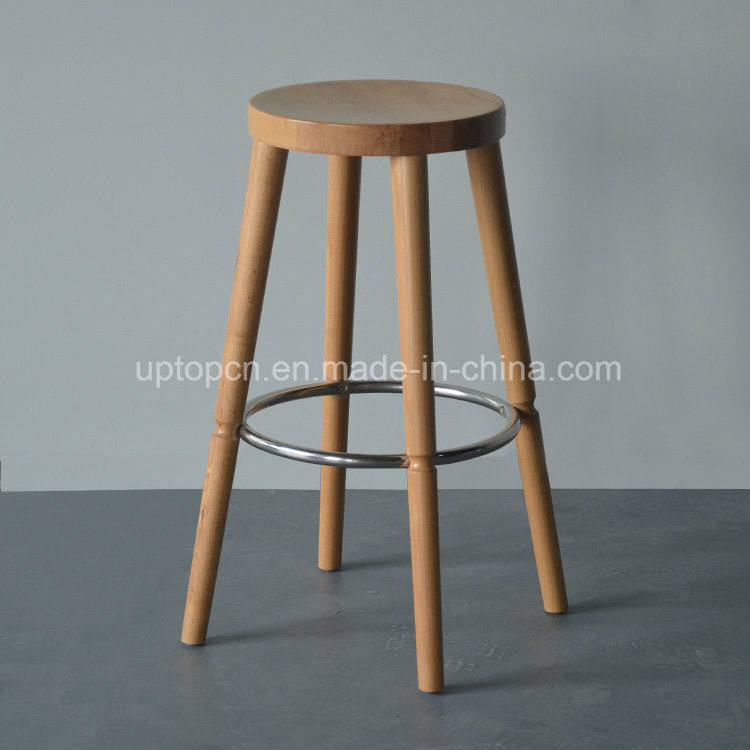 Commercial High Round Wooden Bar Stool (SP-HBC255)
