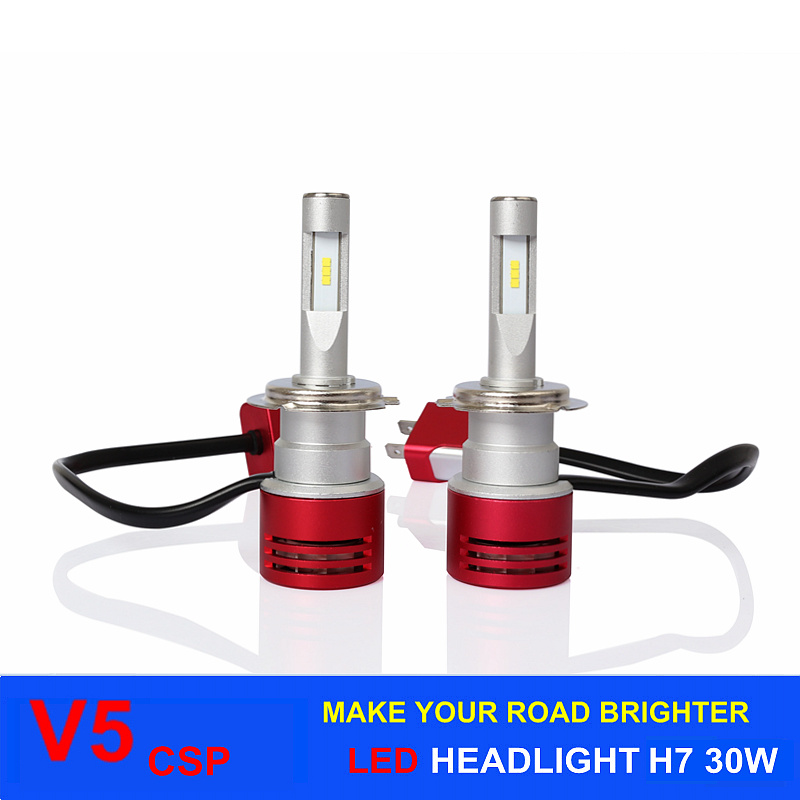 Car Accessory High Power LED 60W 8400lm V5 Csp H7 Car LED Headlight 6000k