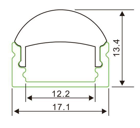 Hh-P002-Rl Surface LED Aluminum Profiles