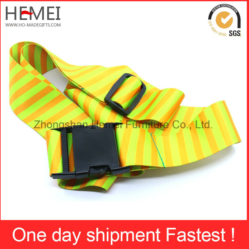 Customized Printed Travel Polyester Strap Luggage Belt