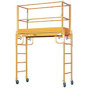 6FT 1000lb. Capacity Multipurpose Rolling Steel Adjustable Indoor Scaffolding