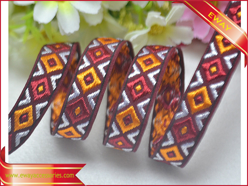 Jacquard Ribbon Sewing Trim for Clothing