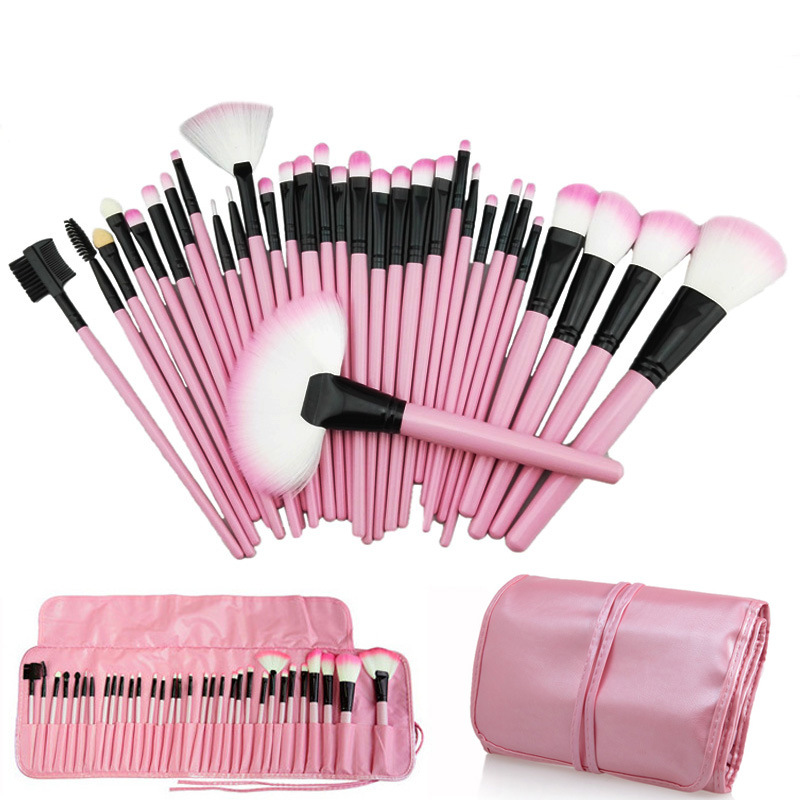 Wholesale 32PCS Pink Professional Complete Cosmetic Makeup Brushes Set