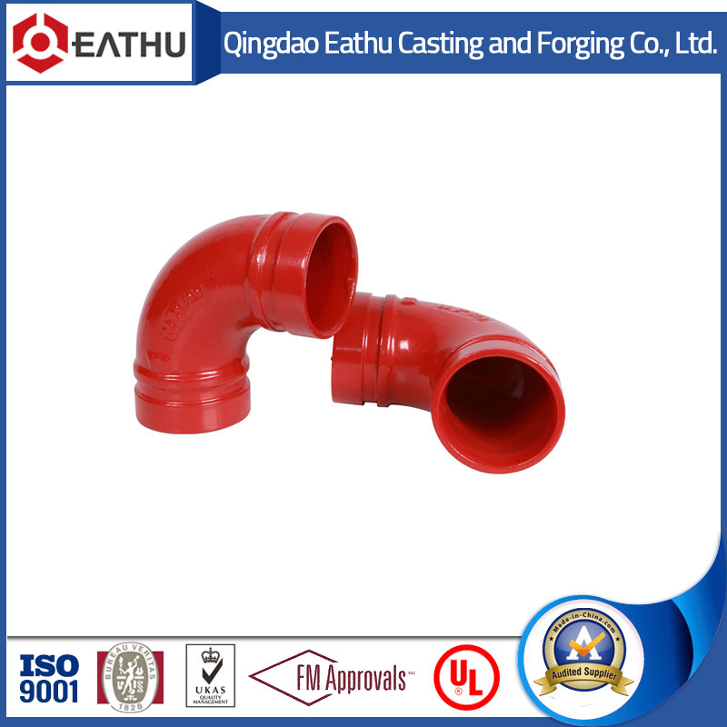 Ductile Iron Grooved Pipe Fittings Used in Fire Fighting System