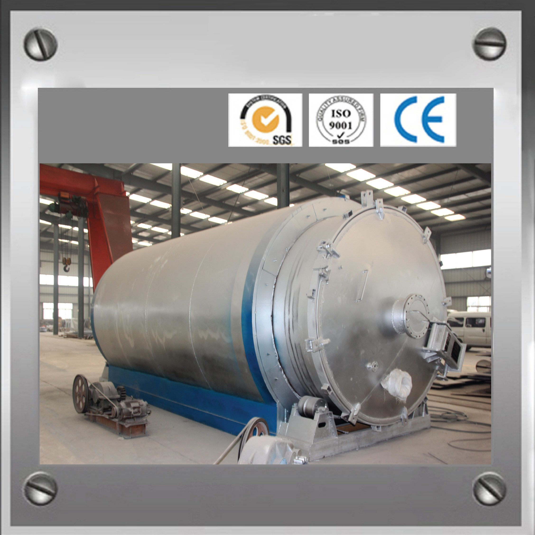 Zq-8 Waste Tyre Pyrolysis Machine with CE, ISO, SGS