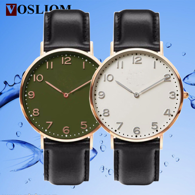 Yxl-742 2016 Men Fashion Custom Logo Watches Wholesale, Watch Genuine Leather, Watch Men Leather