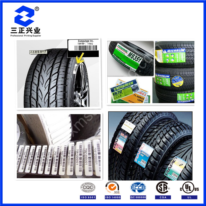 Customized Tire Adhesive Decal Sticker Printing (SZXY178)