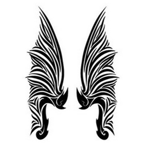Fashionable Wings Waterproof Temporary Tattoo Stickers