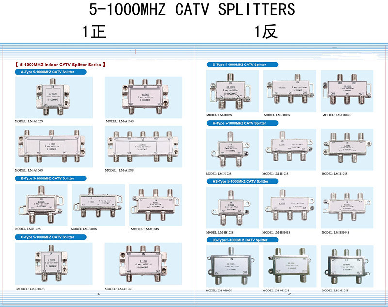 4way CATV Splitter 5-1000MHz (SHJ-H104S)
