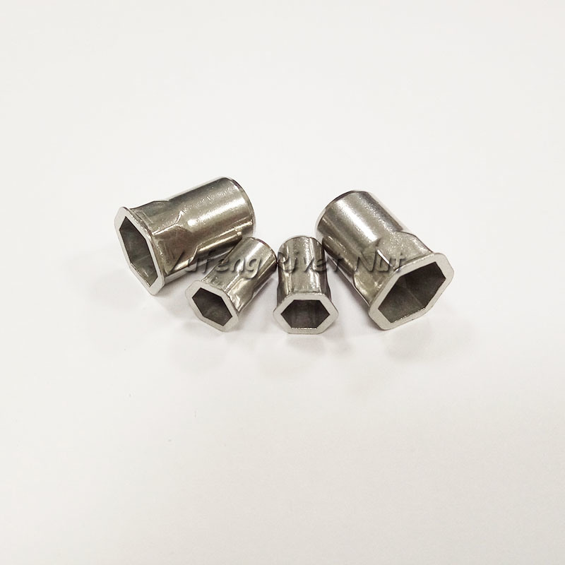 Stainless Steel Rivet Nut Small Head Inside& Outside Hexagon
