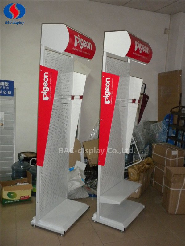 Manufacturer OEM Customized Strong Metal Milk Floor Display Stand