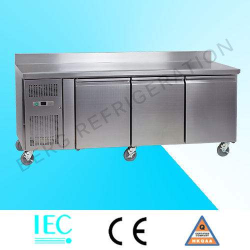 Kitchen Freezer Stainless Steel Freezer Refrigerator with Ce