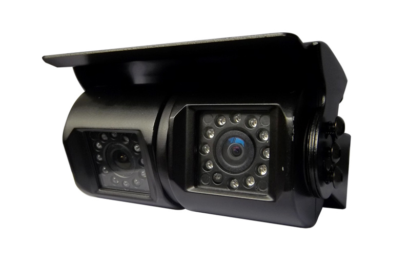 IP68 Car Rear View Camera with Dual Lens, Black & White Optional