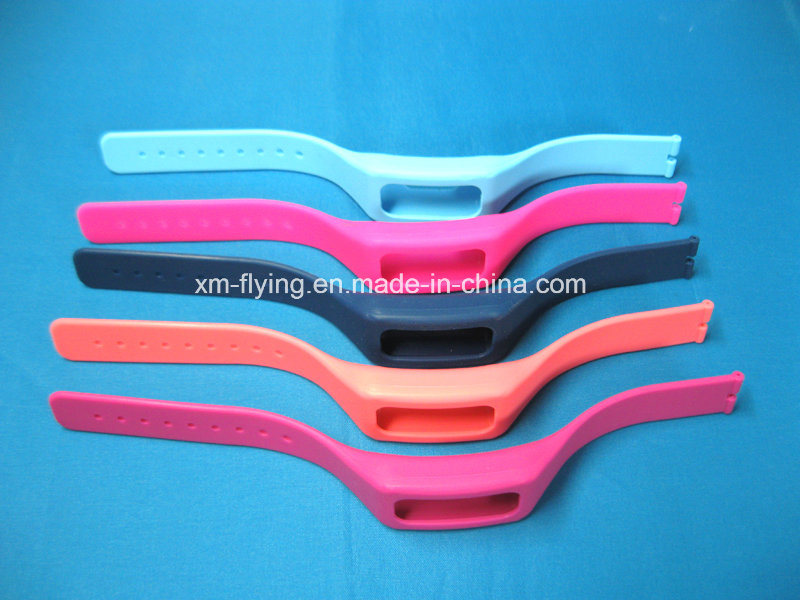Promotional Fashionable Logo Printed Removable Silicone Rubber Straps for Watch