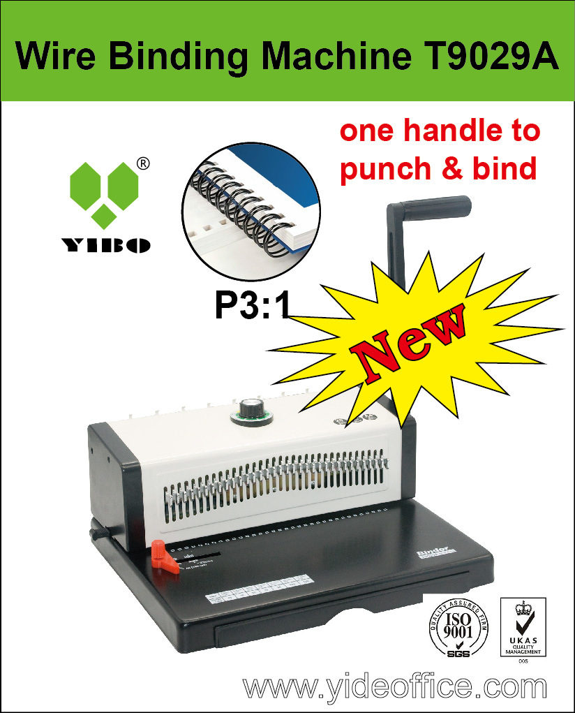 A4 Size Steel Wire Binder for Best Punch and Bind (T9029A)