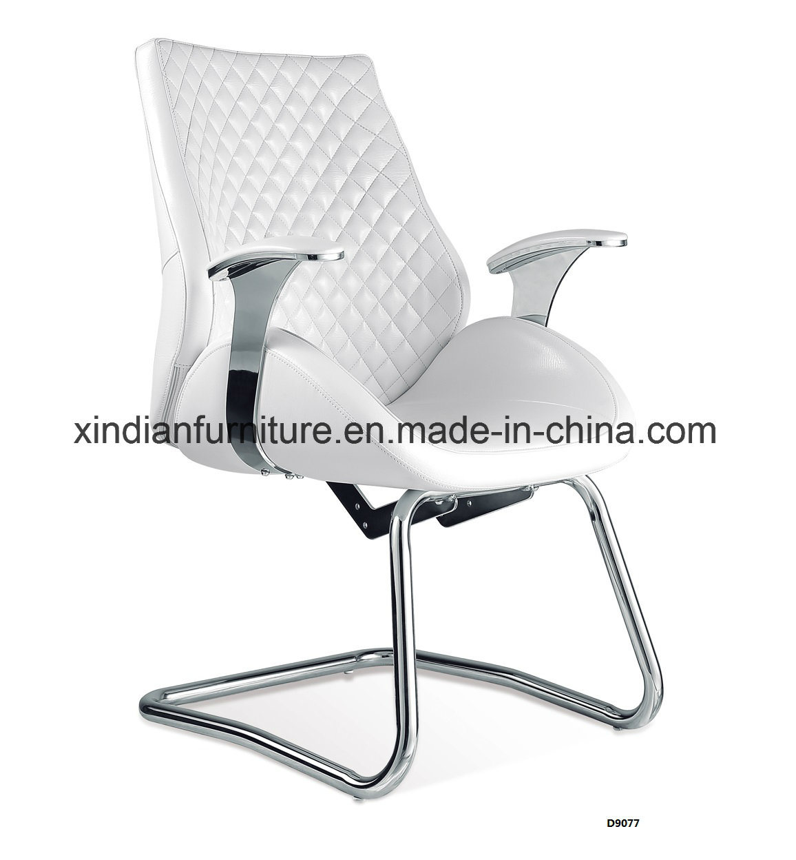 Metal Frame Fixed Leather Office Chair