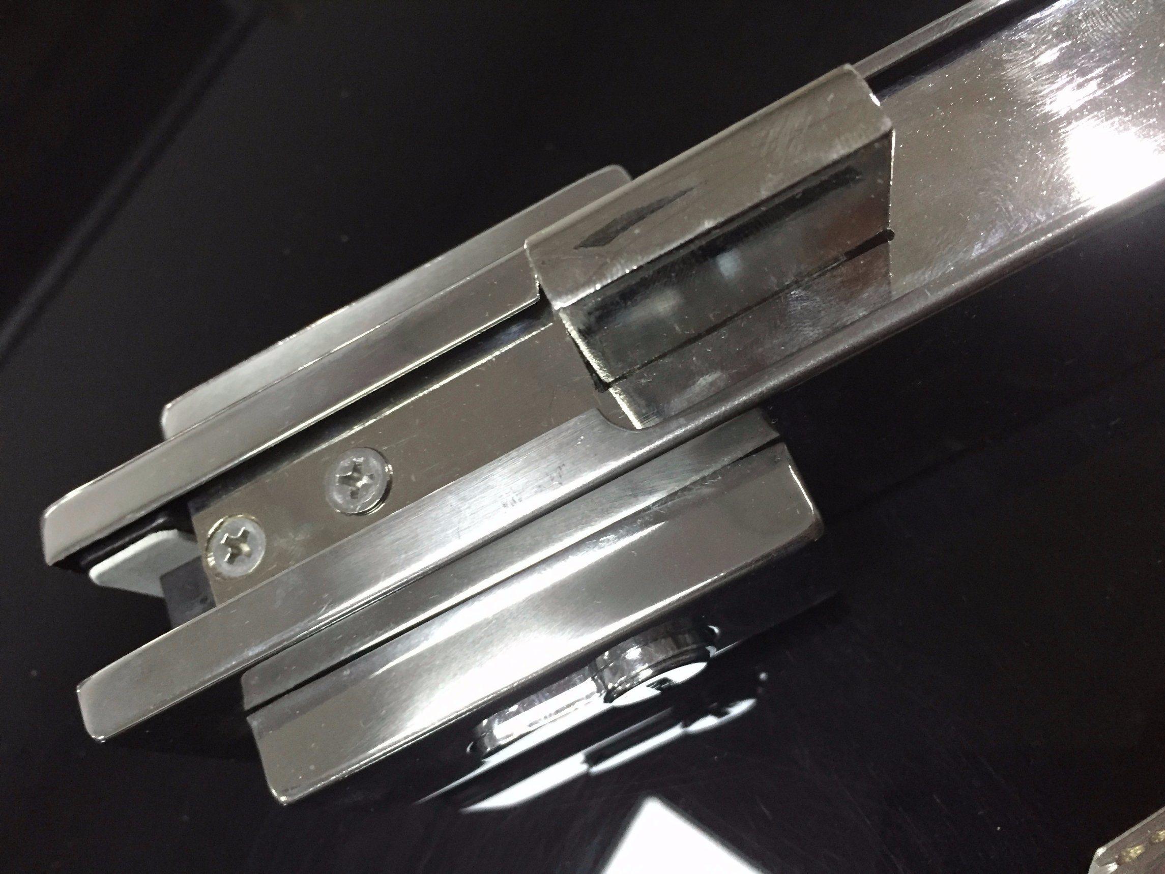 Ks-050 Aluminium Hinge Patch Fitting Glass Door Lock