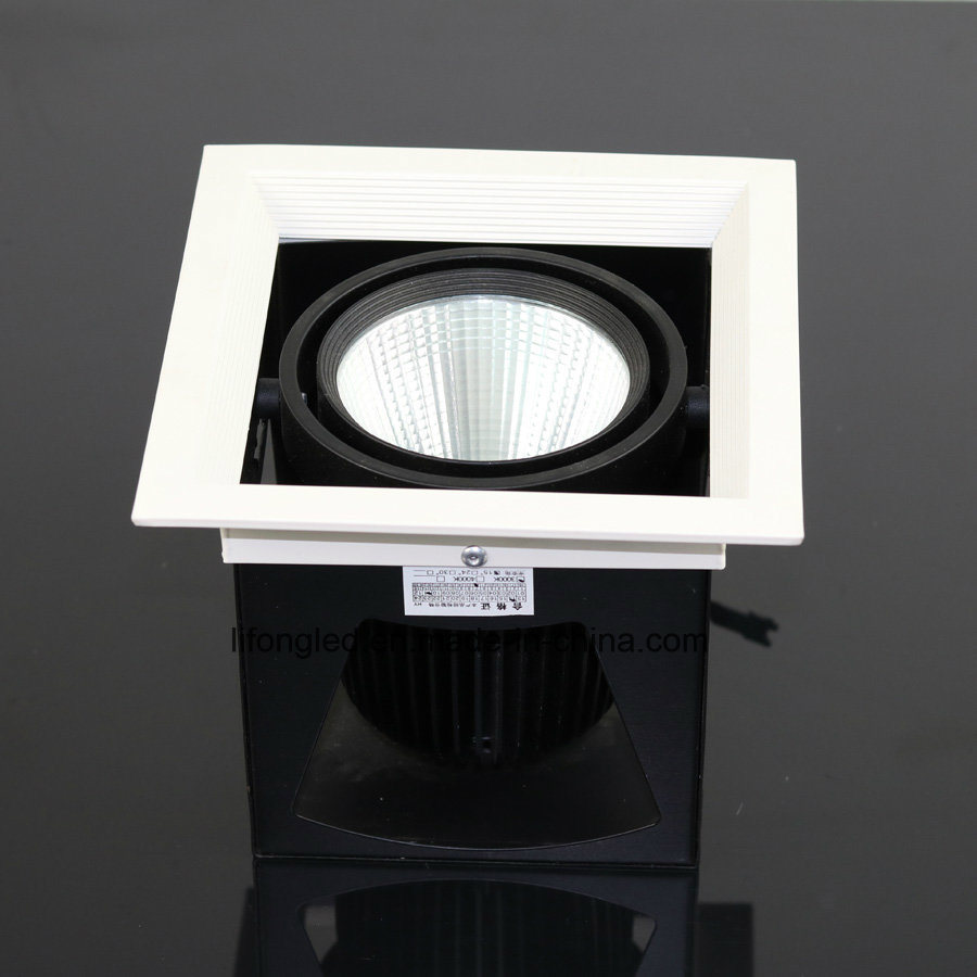 High Quality 12W LED COB Recessed Grille Downlight