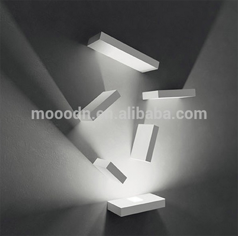 Modern Flexible Rotatable White Die Cast Aluminum Square Cube 20W Epistar COB LED Wall Lamp