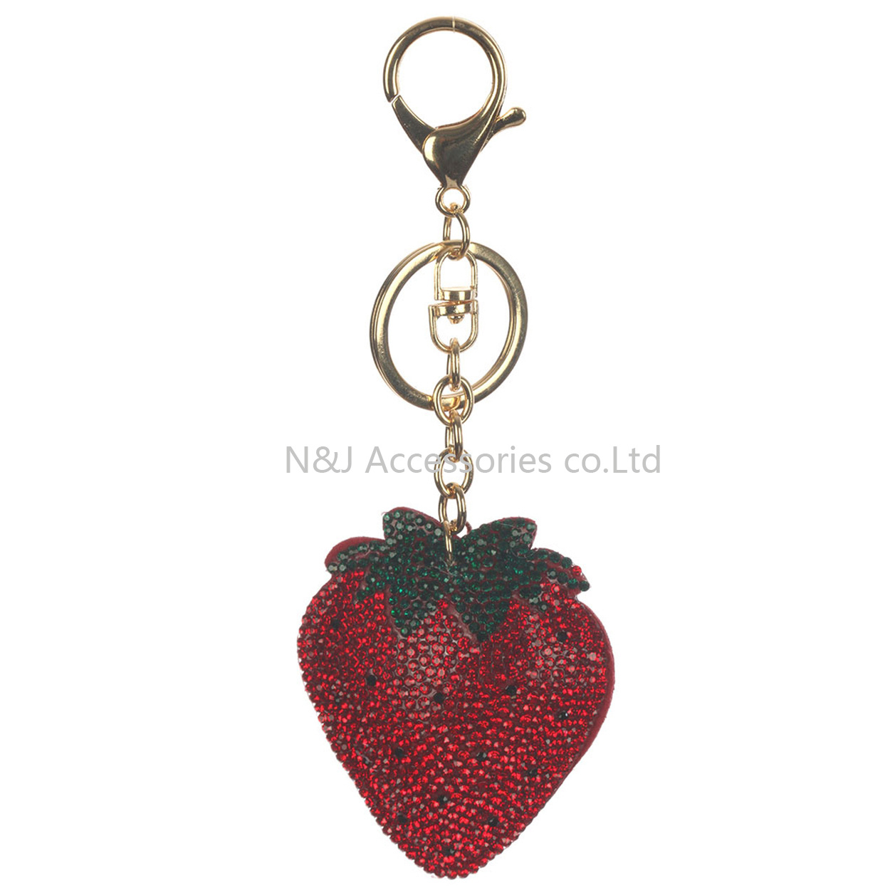 Fashion Stuffed Pillow Strawberry Bag Accessory Key Chains of Jewelry Gift