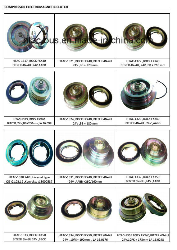 Bock Fkx40 Compressor Magnet Clutch China Supplier