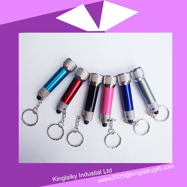 Promotional Gift LED Light Key Chain with Branding Logo (KLK-001)