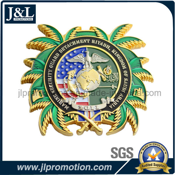 Transparent Soft Enamel Metal Coin with High Quality
