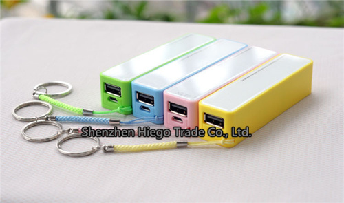 2015 Hot Sell 2600mAh Portable Mobile Power Bank