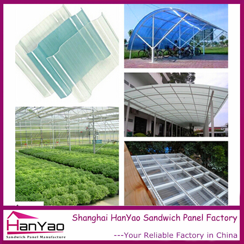 Translucent PVC Roof Tile for Canopy and Greenhouse