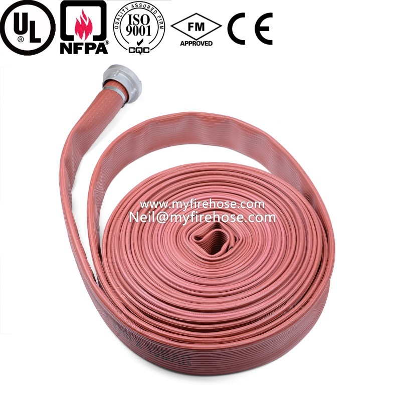 2 Inch Ageing Resistance of PVC Cotton Canvas Fire Water Hose