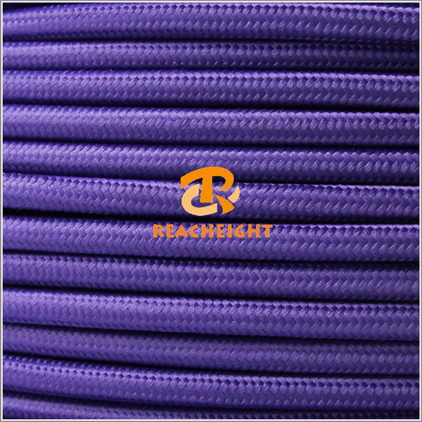 Cloth Covered Round Electrical Cord for Lamp