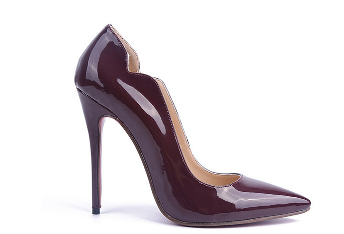 Fashion Style Burgundy High Heel Women Shoes (HS17-064)