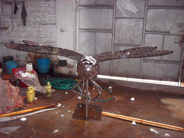 Insects, Outdoor Garden, Pool Decoration Decorative Stainless Steel Sculpture