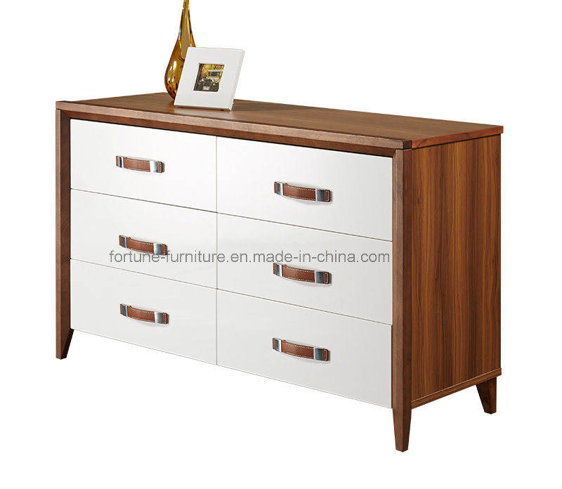Bedroom Furniture/Wooden Walnut & White Dressing Table (Camel 1013)