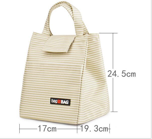 Women Casual Pack Lunch Bags Insulation Bags Pack Ice Bag Rice Portable Canvas Board Box Portable Lunch Handbag