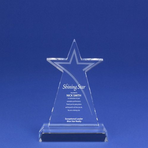 Etched Star Crystal Trophy for Stellar Employees (#78050)
