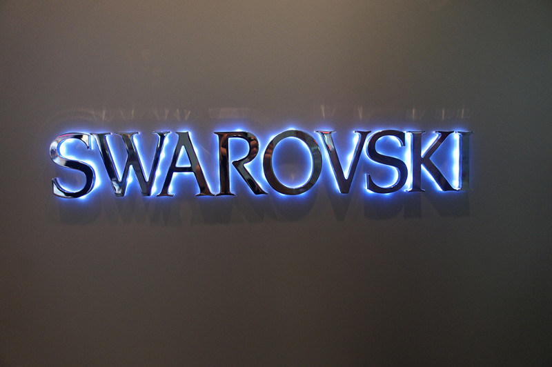 Stainless Steel Fabricated LED Interior Backlit Reverse Halo Lit Illuminated Busniess Signage