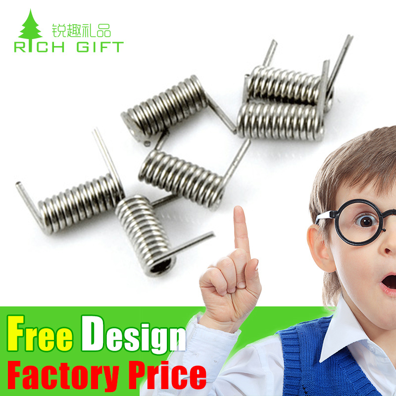 Custom High Precision Stainless Steel Helical Extension Spring with Double Hooks