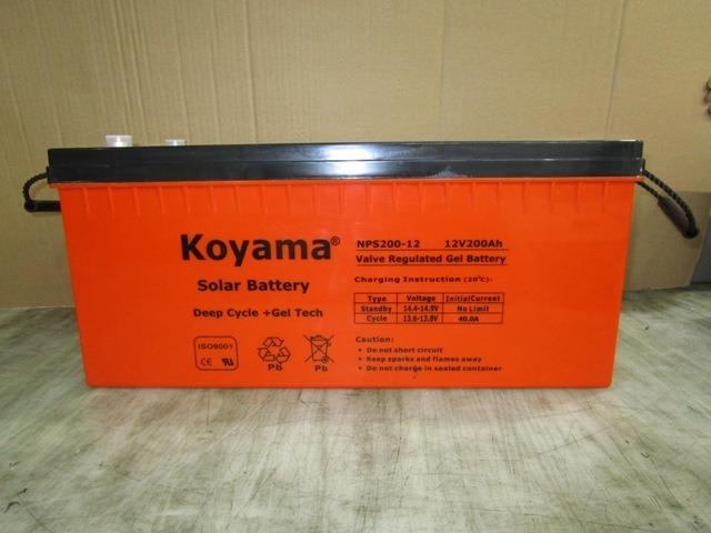 CE Approved 12V Inverter Deep Cycle Gel Storage Battery 200ah