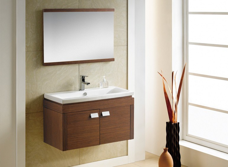 Modern Design Cheap French Wall-Mounted Lowes Bathroom Vanity Cabinet
